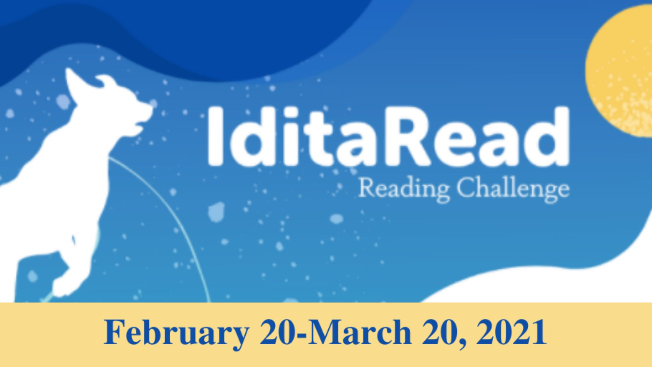 IditaRead Reading Challenge Starts February 20