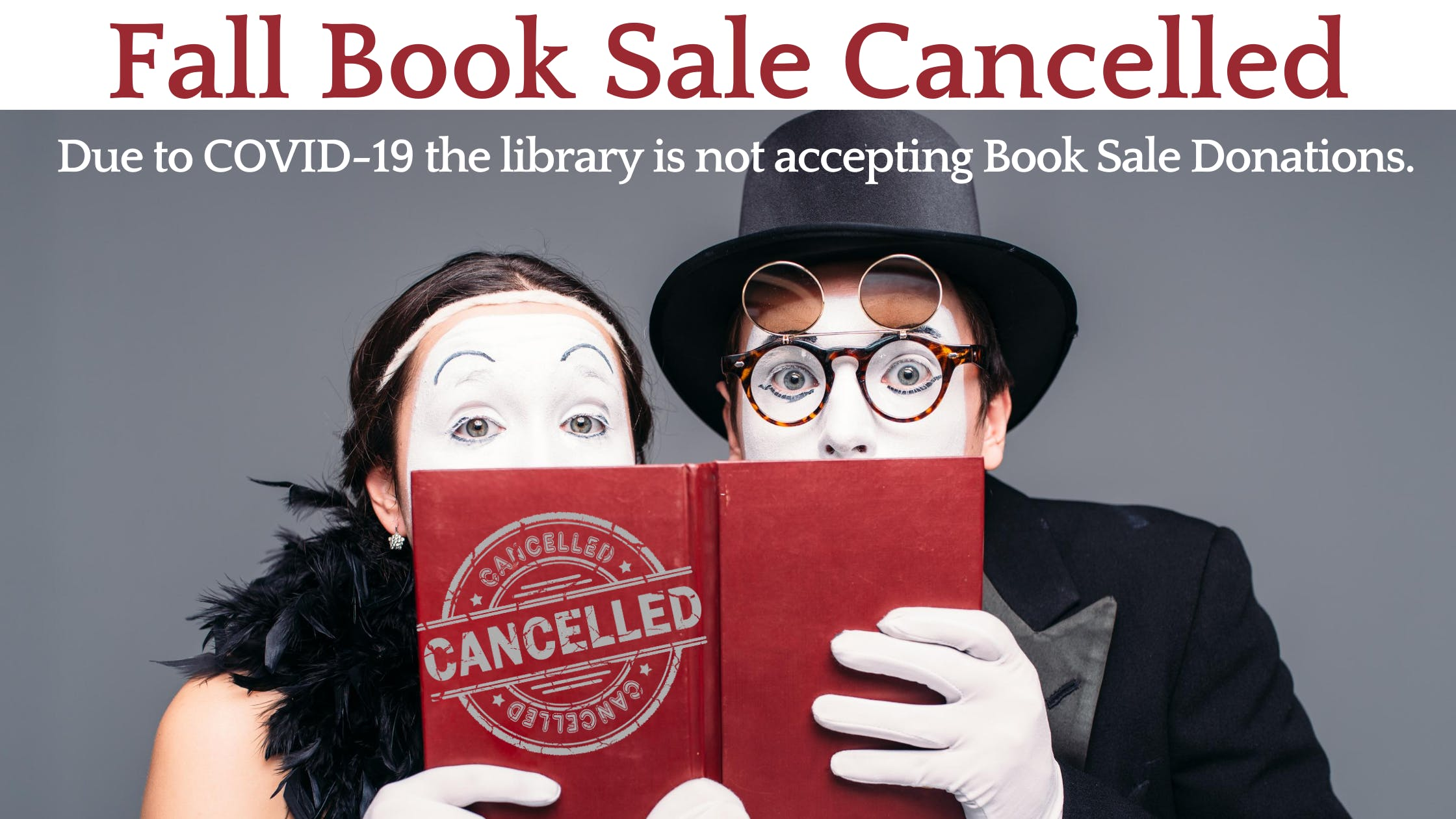 Fall Book Sale Cancelled